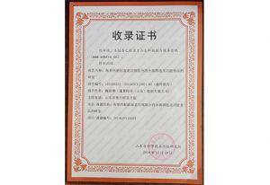 山东省科学技术情报研究院收录证书