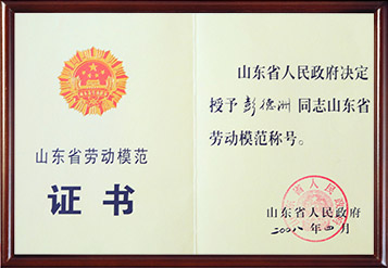 2008年山东省劳动模范