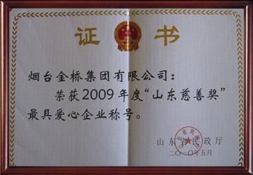 2010年山东慈善奖最具爱心企业