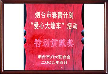 2009年烟台市春蕾计划特别贡献奖