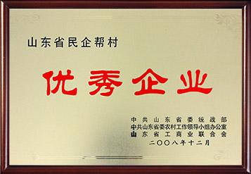 2008年山东省民企帮村优秀企业